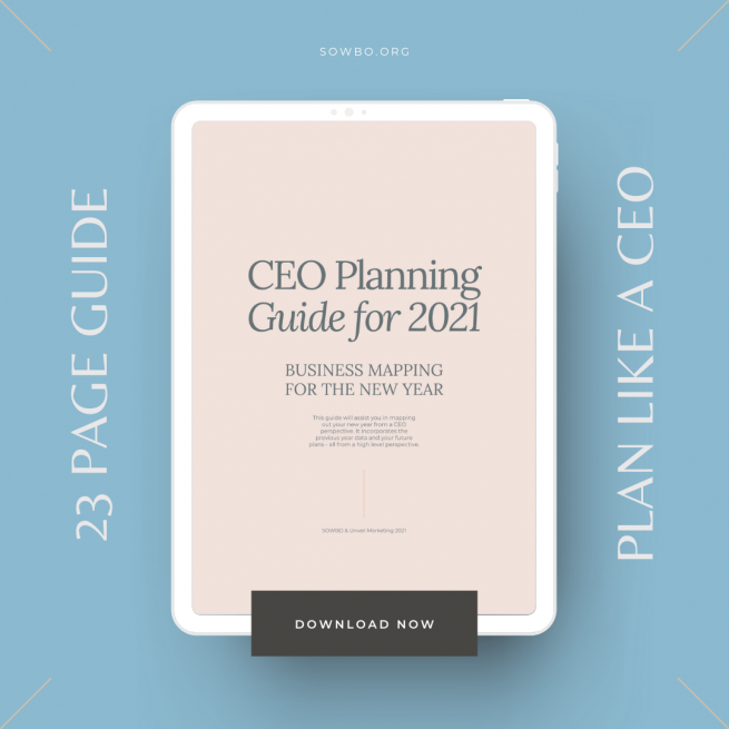 Plan like a CEO with this Digital Guide to Mapping Out Your Year