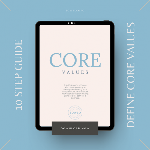 10 Step Guide to Defining Core Values | Business Printable | Core Value Worksheet PDF | Business Planning | Core Value Planner